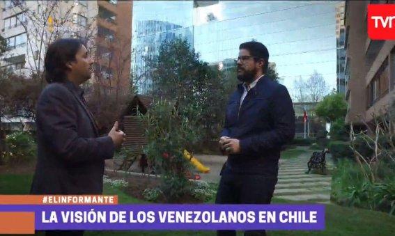 Reportaje TVN El Informante La visión de los venezolanos en Chile - Jorge León - venezolanoenchile.com