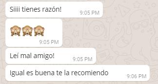 Respuesta por whatsapp - Experiencia del cliente