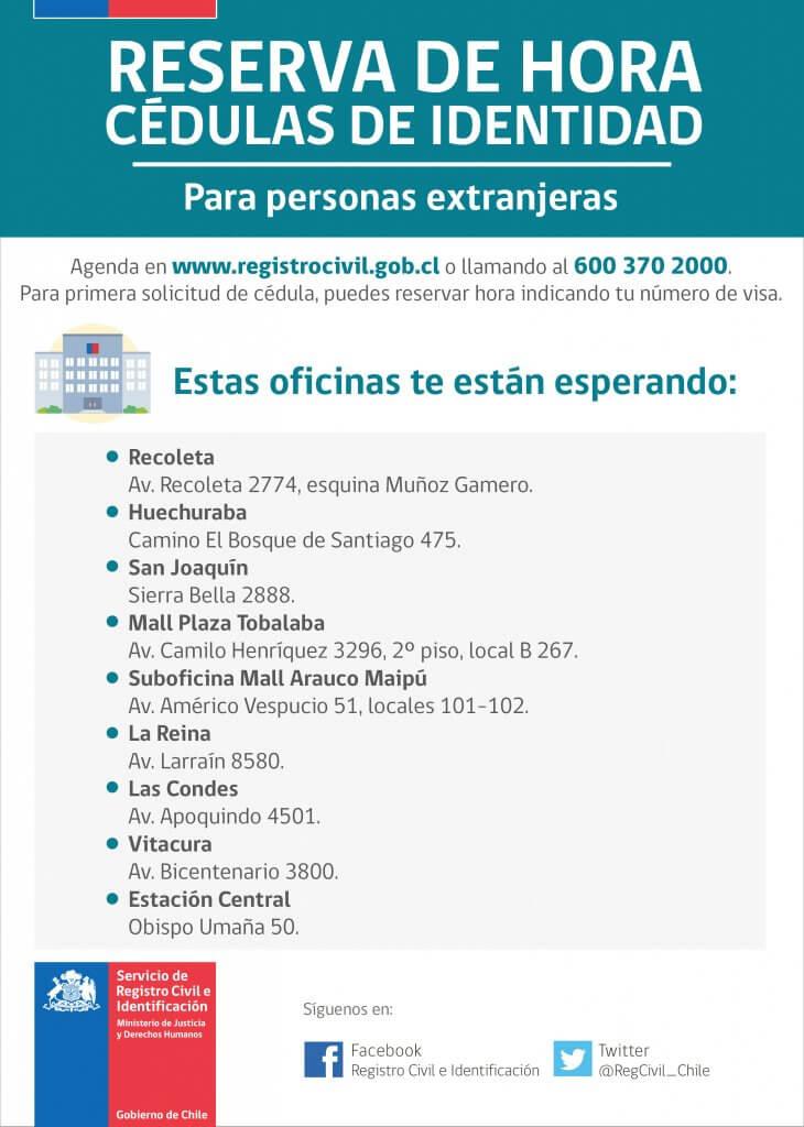 Reserva de horas para extranjeros - Registro Civil Chile