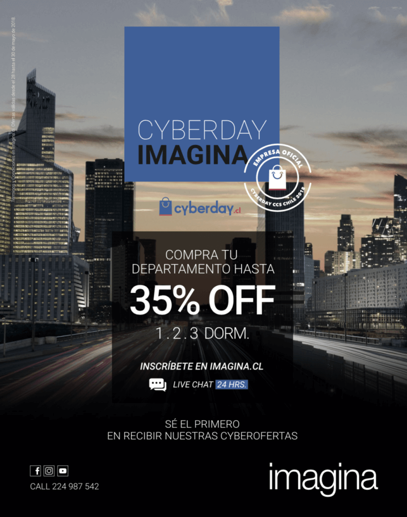 Inmobiliaria Imagina Cyberday 2018