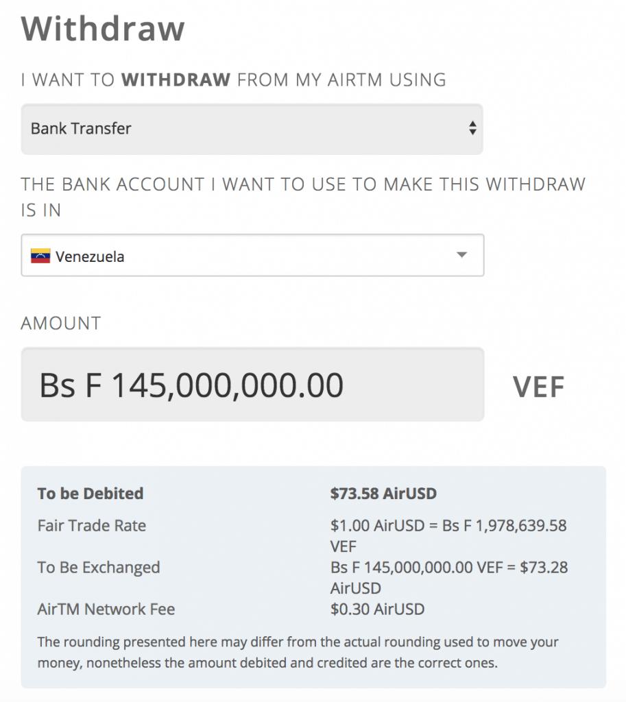 retiro 50000 pesos AirTM