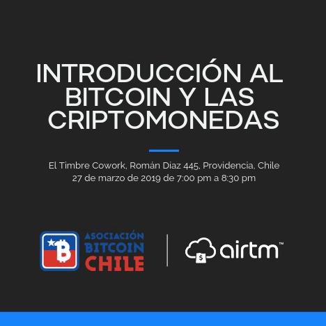 Evento Bitcoin Airtm 27 marzo 2019