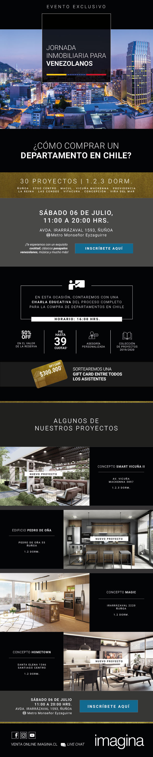 9no evento Inmobiliaria Imagina para venezolanos