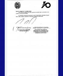 Acuerdo Embajada Venezuela Chile - Decima Notaria Valeria Ronchera - firmar con documentos vencidos