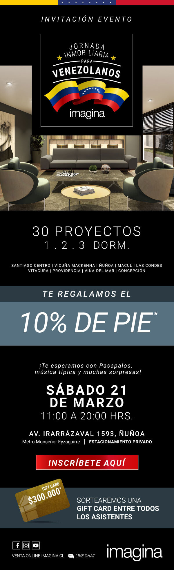 13er evento inmobiliaria imagina para venezolanos