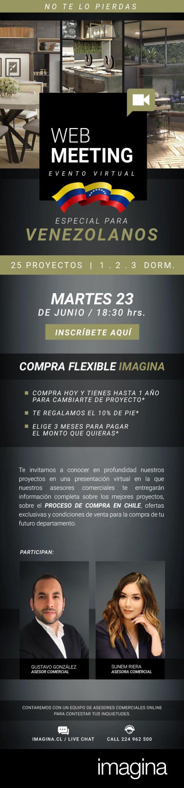 Web meeting Inmobiliaria Imagina para venezolanos